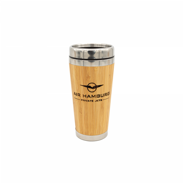 AIR HAMBURG Bambus Travel Mug
